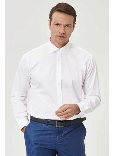 Beymen Business Regular Fit Saten Gömlek 4B2000000103 Beyaz